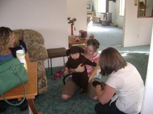 dressing the monkey